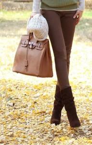 Buty w kolorze spodni i efekt dłuższych nóg mamy gwarantowany!