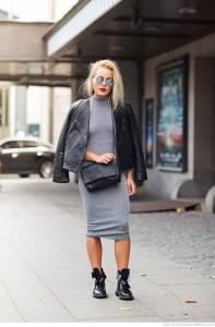 Zbyt długa sukienka, skracająca optycznie nogi