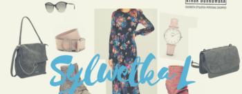 Sukienka  w kwiaty dla sylwetki L