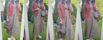 Długa sukienka, sneakersy i ramoneska przy niewysokim wzroście :) Można? Można :)